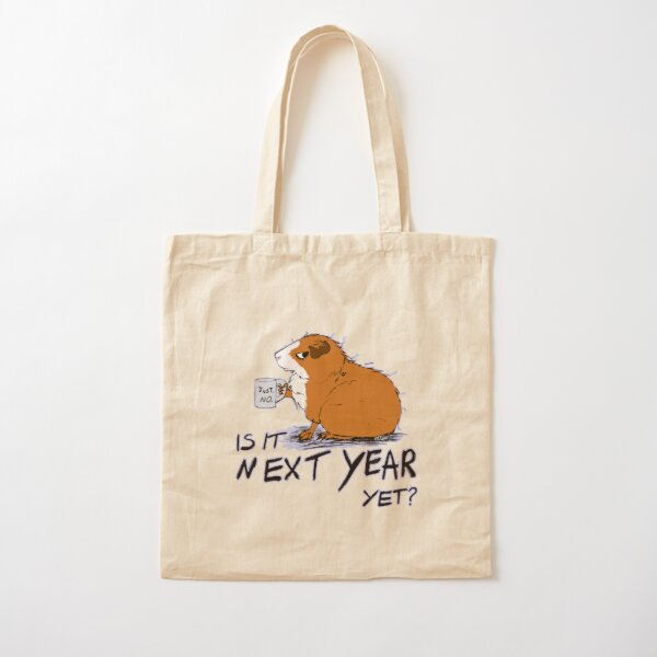 Grumpy guinea pig Cotton Tote Bag