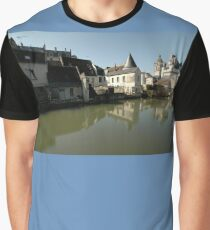 Indres River Reflections, Loches, France 2012 Graphic T-Shirt