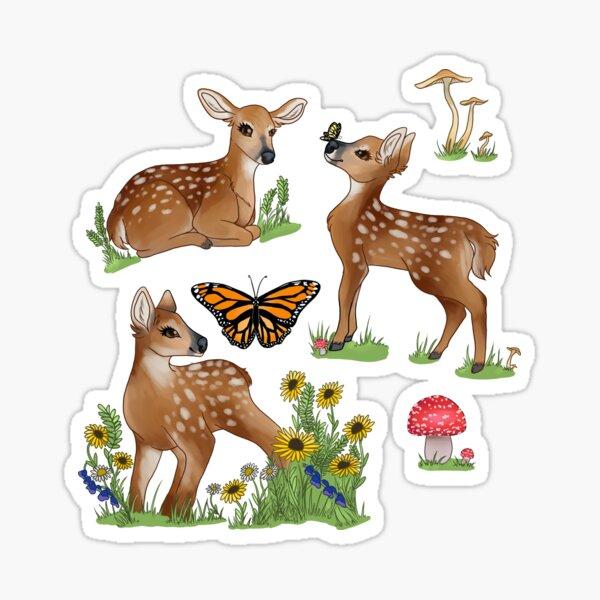 Playful Fawns Sticker
