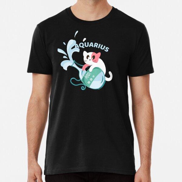Zodiac Symbols - Aquarius Premium T-Shirt