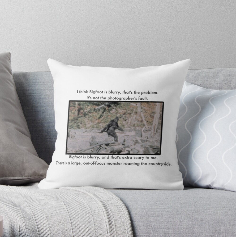 Mitch Hedberg Bigfoot Throw Pillow By Tan Trundell Redbubble