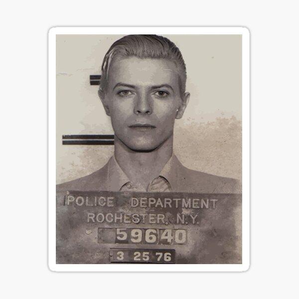 David Bowie Mugshot Men_s Sticker