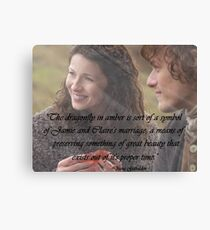 Dragonfly in Amber/Jamie & Claire Canvas Print