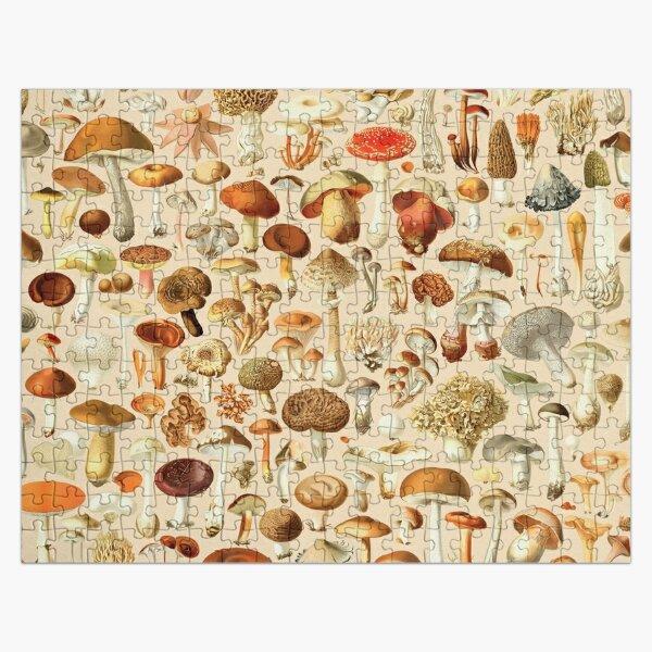 Vintage Mushroom Designs Collection Jigsaw Puzzle