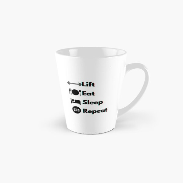 Lift, Eat, Sleep, Repeat Red and Blue Holographic  Tall Mug