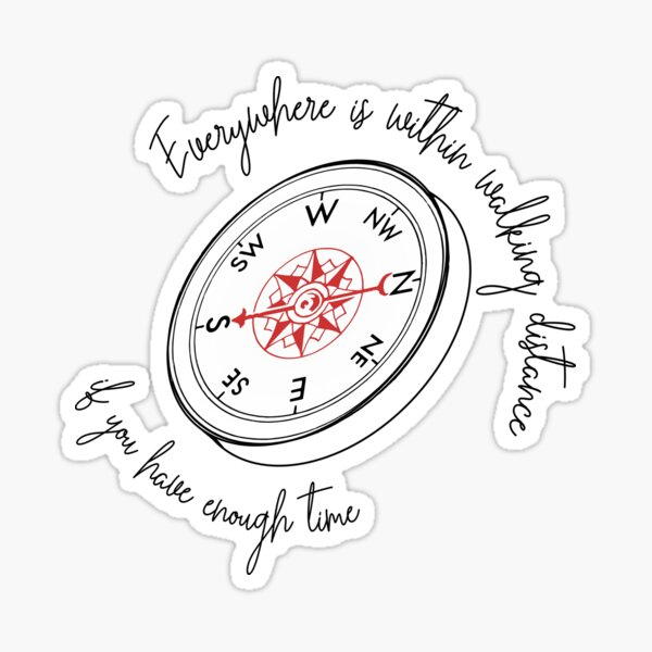 Compass...if you have enough time Sticker