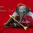 Valentine's Day Elephant Love You by jkartlife