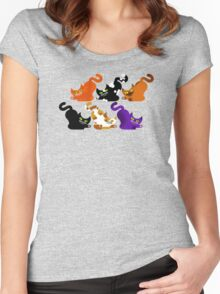 CAT POUNCE Women's Fitted Scoop T-Shirt