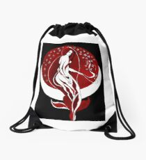 Moonflower Drawstring Bag