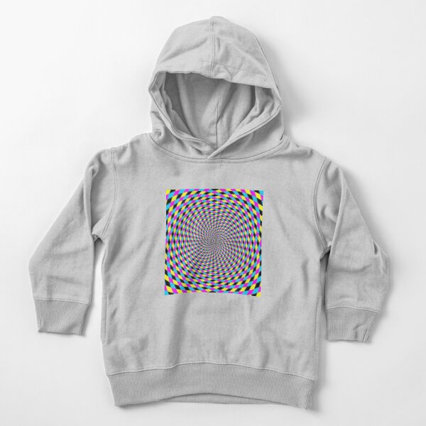 Colorful vortex spiral - hypnotic CMYK background, optical illusion Toddler Pullover Hoodie