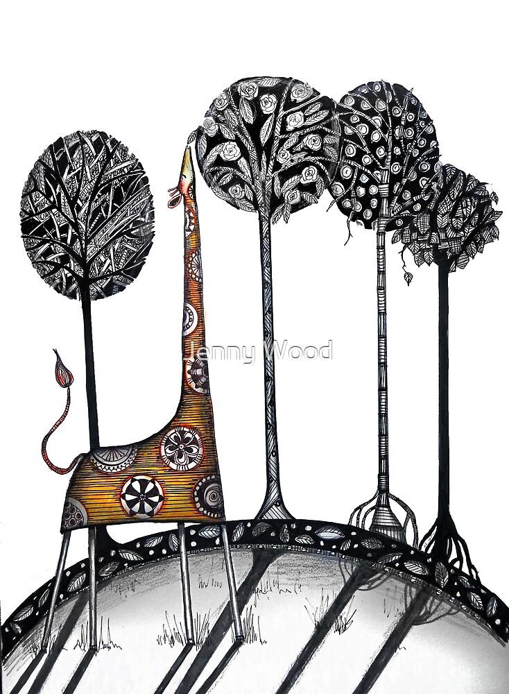 A giraffe named Kennett  by Jenny Wood