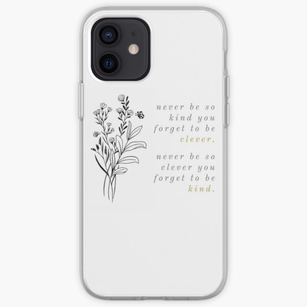 marjorie gold and purple flowers iPhone Soft Case