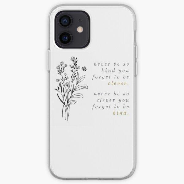 marjorie or et fleurs violettes Coque souple iPhone