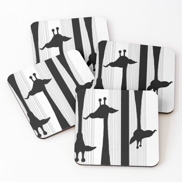 Giraffes Have Long Tongues  Coasters (Set of 4)