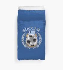 Greece Soccer 2016 Fan Gear Duvet Cover