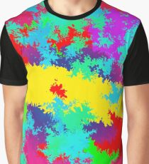 Colourful Random Trippy Pattern Graphic T-Shirt