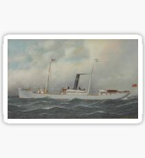 Antonio Jacobsen - Olympia Steamship Sticker
