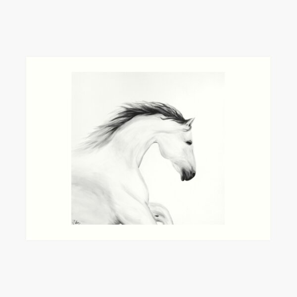 Cheval blanc Impression artistique
