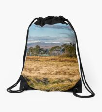 Central Scotland Scenery Drawstring Bag