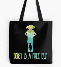 Dobby Is A Free Elf - Colourful Silhouette #2 Tote Bag