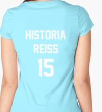 Attack On Titan Jerseys (Historia Reiss) Women's Fitted Scoop T-Shirt