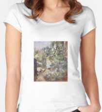 Berthe Morisot - A Child In The Rosebeds Women's Fitted Scoop T-Shirt