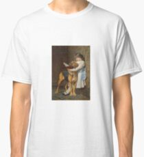Briton Riviere - Reading Lesson Compulsory Education Classic T-Shirt