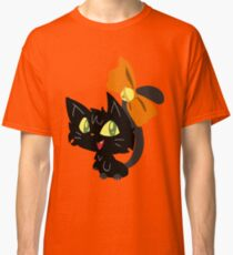 Halloween Black Cat with a Ribbon Classic T-Shirt