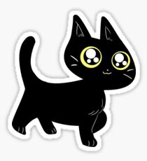 Cute Black Kitten Sticker