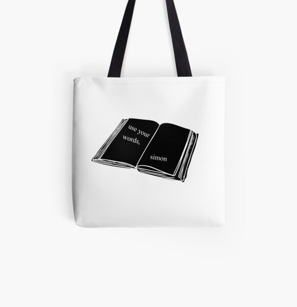 Use Your Words, Simon All Over Print Tote Bag