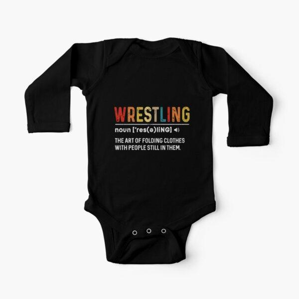 Future Wrestler Baby grow Funny Gift Novelty Humour Birthday Fighting
