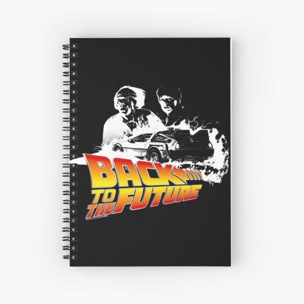 Retour vers le futur - DeLorean Fire Tracks, Marty and Doc Stencil Fan Art Cahier à spirale