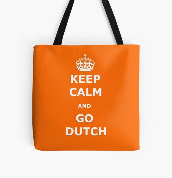 Keep Calm and Go Dutch All Over Print Tote Bag