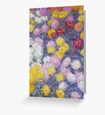 Claude Monet - Chrysanthemums  Greeting Card