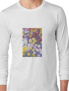 Claude Monet - Chrysanthemums  Long Sleeve T-Shirt