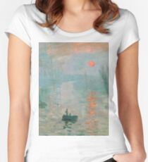 Claude Monet - Impression Sunrise Women's Fitted Scoop T-Shirt