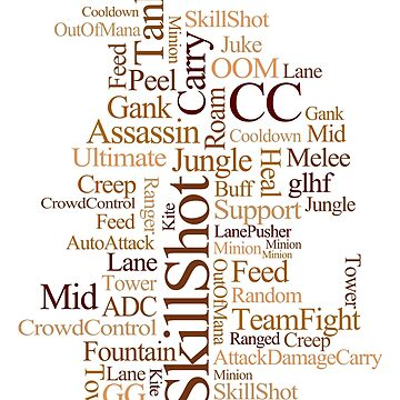 MOBA wordcloud - coffee by SCshirts