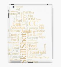 MOBA wordcloud - sand iPad Case/Skin
