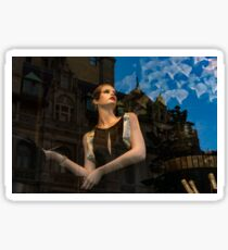 Glitter and Glamour and Chic - High Fashion Shop Window Reflections Sticker
