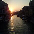 Venice at sunset by Brad Robinson