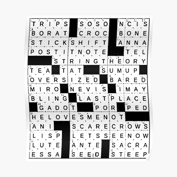 Crossword Clue Posters Redbubble