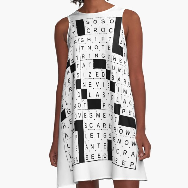 Crossword Clue Dresses Redbubble