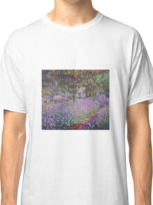 Claude Monet  -The Artists Garden At Giverny  Classic T-Shirt