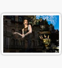 Elegance, Glamour and Chic - High Fashion Shop Window Reflections Sticker