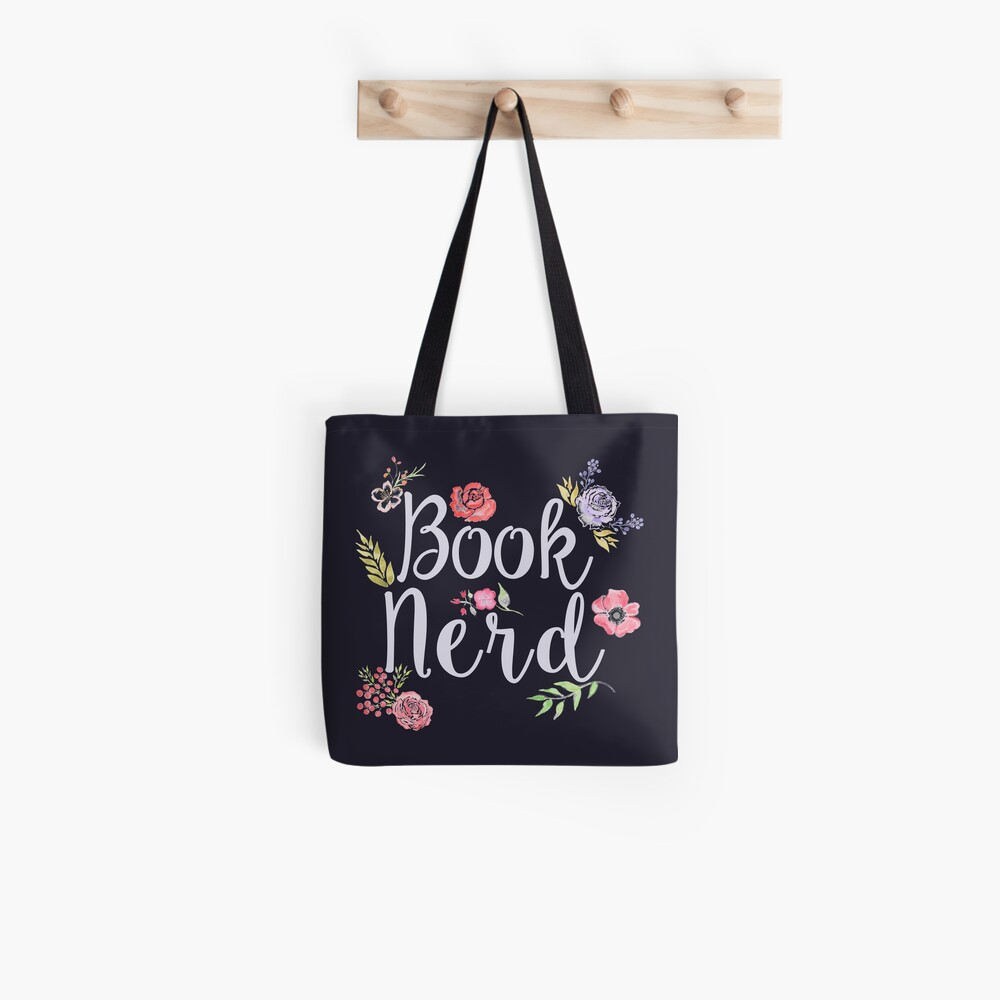 Book Nerd Reverse Tote Bag
