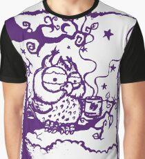 Coffee owl Graphic T-Shirt