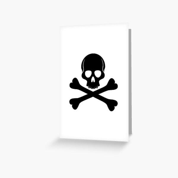 Skull and crossbones symbol. Greeting Card