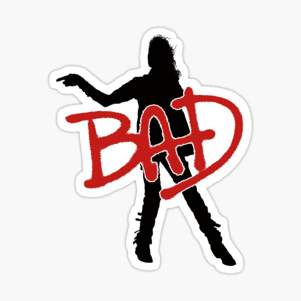 MAUVAISE silhouette (Michael Jackson) Sticker