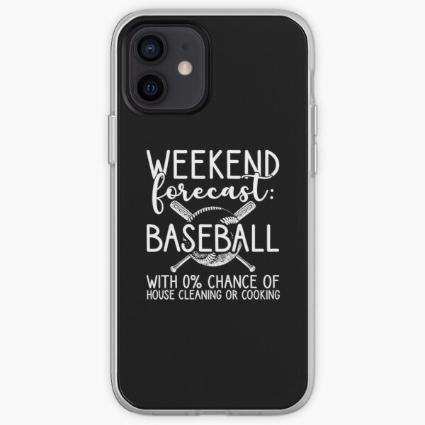 Funny Weekend Forecast Baseball Gift for Baseball iPhone Soft Case