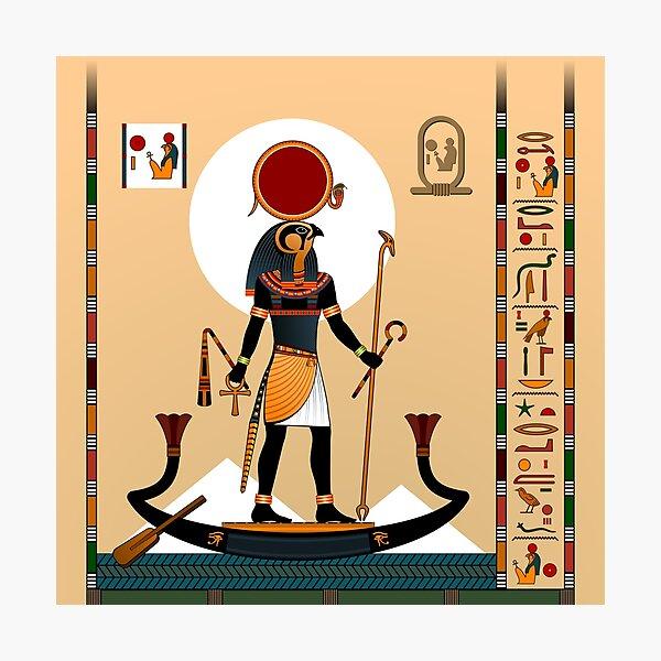 Religion of Ancient Egypt. God Ra. Photographic Print
